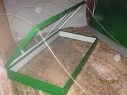 Парник  для рассады с крышкой 1x2m